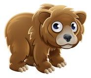 Carácter del animal del oso grizzly de la historieta Imagen de archivo