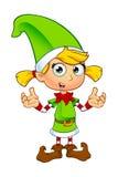 Carácter del duende de la muchacha en verde Fotografía de archivo libre de regalías