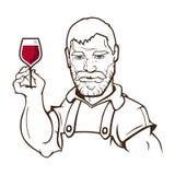 Carácter del fabricante del vino Fotografía de archivo libre de regalías