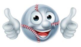 Carácter del hombre de la bola del béisbol de la historieta Foto de archivo libre de regalías