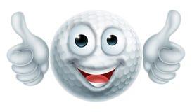 Carácter del hombre de la pelota de golf de la historieta Imagenes de archivo