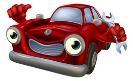 Carácter del mecánico de coche Fotos de archivo libres de regalías