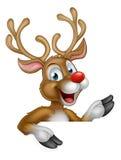 Carácter del reno de la Navidad de la historieta Foto de archivo