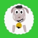 Carácter gordo de las ovejas Imagen de archivo