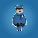 Carácter lindo del policía Imagenes de archivo