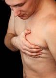 Cardíaco de ataque Fotografia de Stock Royalty Free