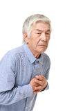 Cardíaco de ataque japonês superior do homem Imagens de Stock Royalty Free