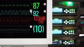 Cardíaco e Vital Sign Monitoring video estoque