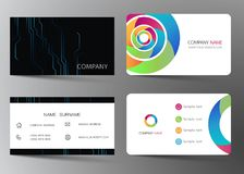 Realistic detailed business card set. Vector illustration design. Realistic detailed business card set. Vector illustration design EPS10 stock illustration