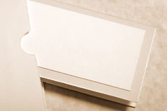 Card. Seating placement card in complimentary envelope Royalty Free Stock Images