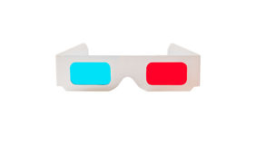 Card 3d Glasses. On a white background Royalty Free Stock Photos