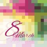 Card_8March Стоковые Изображения