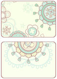 Card with abstract circular ornaments. Card with abstract circular pattern of gentle colors Stock Photography