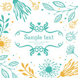 Card with abstract floral background Stock Image