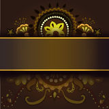 Card with abstract floral pattern Stock Images