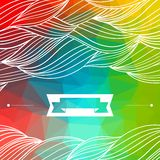 Card abstract geometric background royalty free illustration
