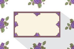 Card with abstract roses. Event design template. Flat Royalty Free Stock Photography