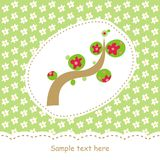 Card with abstract tree Stock Photography