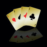 Card ace illustration vector Stock Photography
