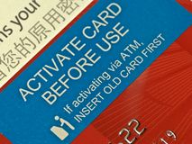 Card activation Royalty Free Stock Images
