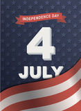 Card for America's Independence Day 4th of July. Stock Photo