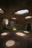 Card of the ancient cave city of Eski-Kermen Stock Photos