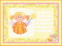 Card with angel. Royalty Free Stock Photos