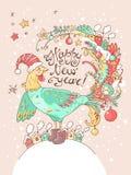 Card_angel de la Navidad Foto de archivo libre de regalías