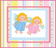 Card with angels. Stock Photography