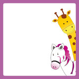 Card with animal Royalty Free Stock Images