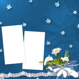 Card for anniversary with bunch Royalty Free Stock Photo