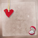 Card for anniversary with hearts Stock Photography