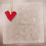 Card for anniversary with hearts Stock Images