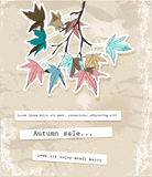 Card with autumn leaves. Vector illustration EPS10 Stock Photos