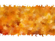 Card on autumn leaves texture. EPS 10 Stock Photos