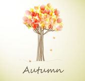 Card with autumn tree Royalty Free Stock Photo