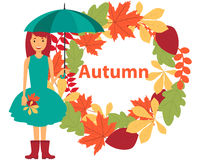 Card autumn Stock Image