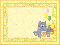 Card for baby. Stock Image