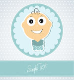 Card for baby boy Stock Images