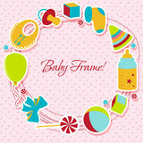 Card with baby element Royalty Free Stock Image