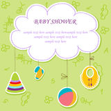 Card with baby element Stock Photo