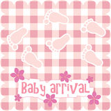 Card for baby girl Stock Image