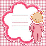 Card for baby-girl Stock Photo