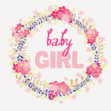 Card Baby Girl Stock Photography