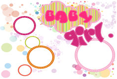 Card for baby girl Royalty Free Stock Image