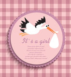 card for baby girl, Stock Image