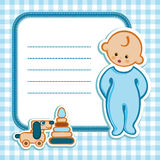 Card for baby shower. Birthday card Nice Greeting card - template Cute simple Artistic hand drawn illustration - doodle For baby shower, greetings, invitation Stock Photo