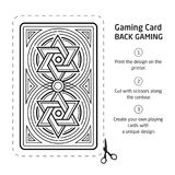 Card Back Abstract Pattern Background Underside. Game Card Back Abstract Pattern Background Underside Royalty Free Stock Photo