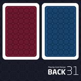 Card Back Abstract Pattern Background Underside. Game Card Back Abstract Pattern Background Underside Royalty Free Stock Photography
