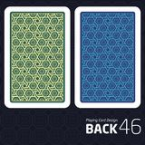 Card Back Abstract Pattern Background Underside. Game Card Back Abstract Pattern Background Underside Royalty Free Stock Images